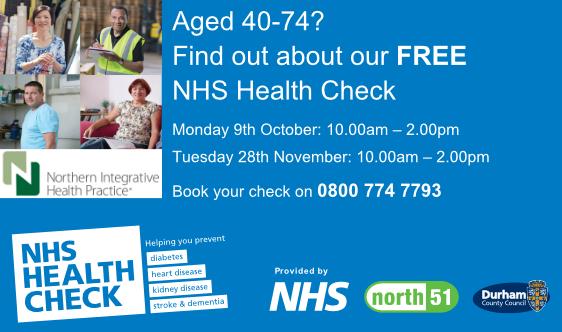 FREE NHS Health Check at #NIHPDurham