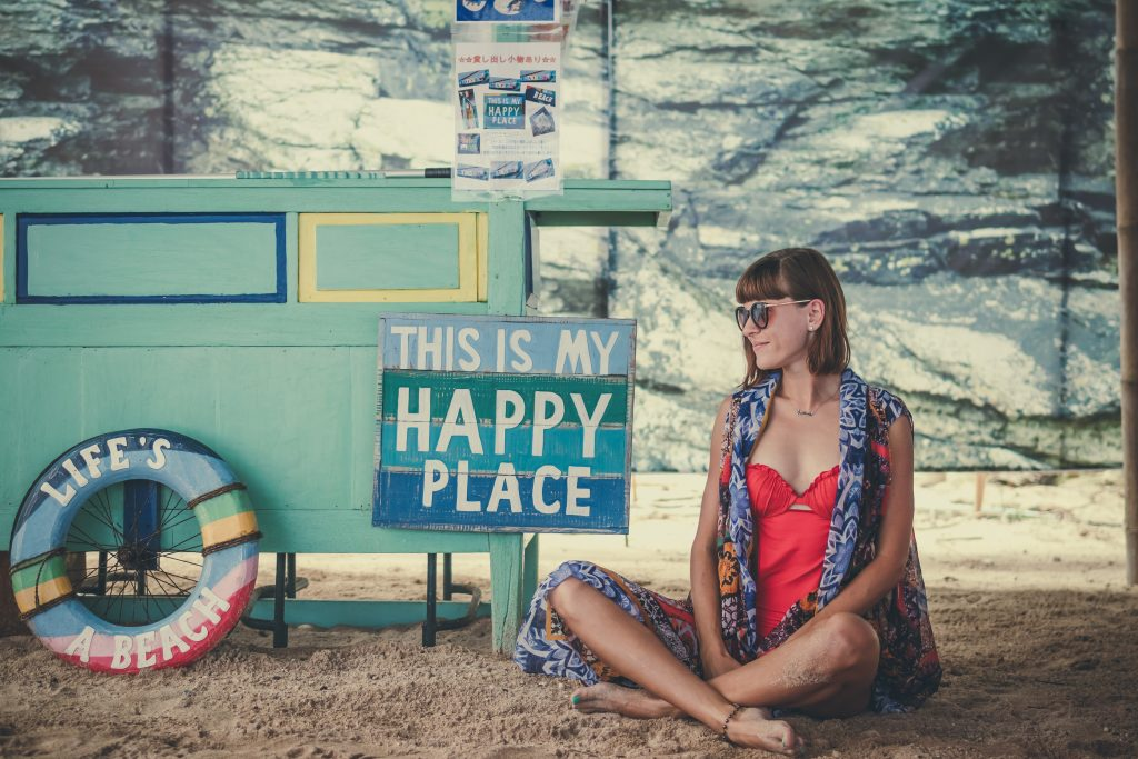 Find your happy place that allows you to de-stress, relax and focus on time out