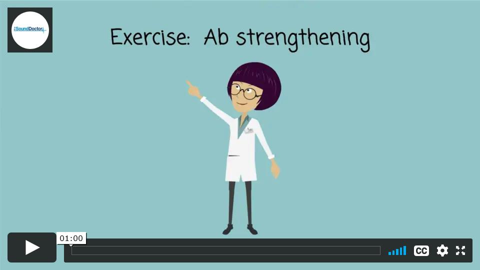 Back pain exercise - Ab Strengthening