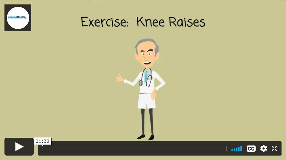 Exercise for back pain - Knee Raises