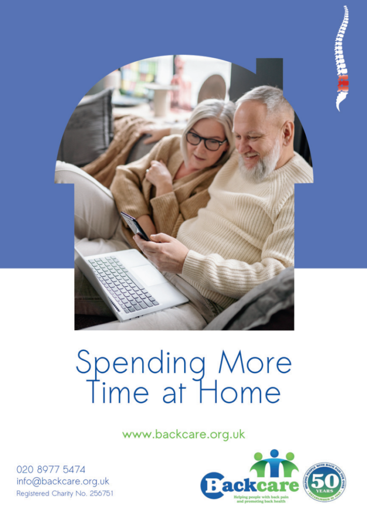 Back care advice when spending more time at home