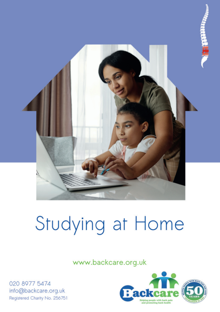 Studying at home back care advice